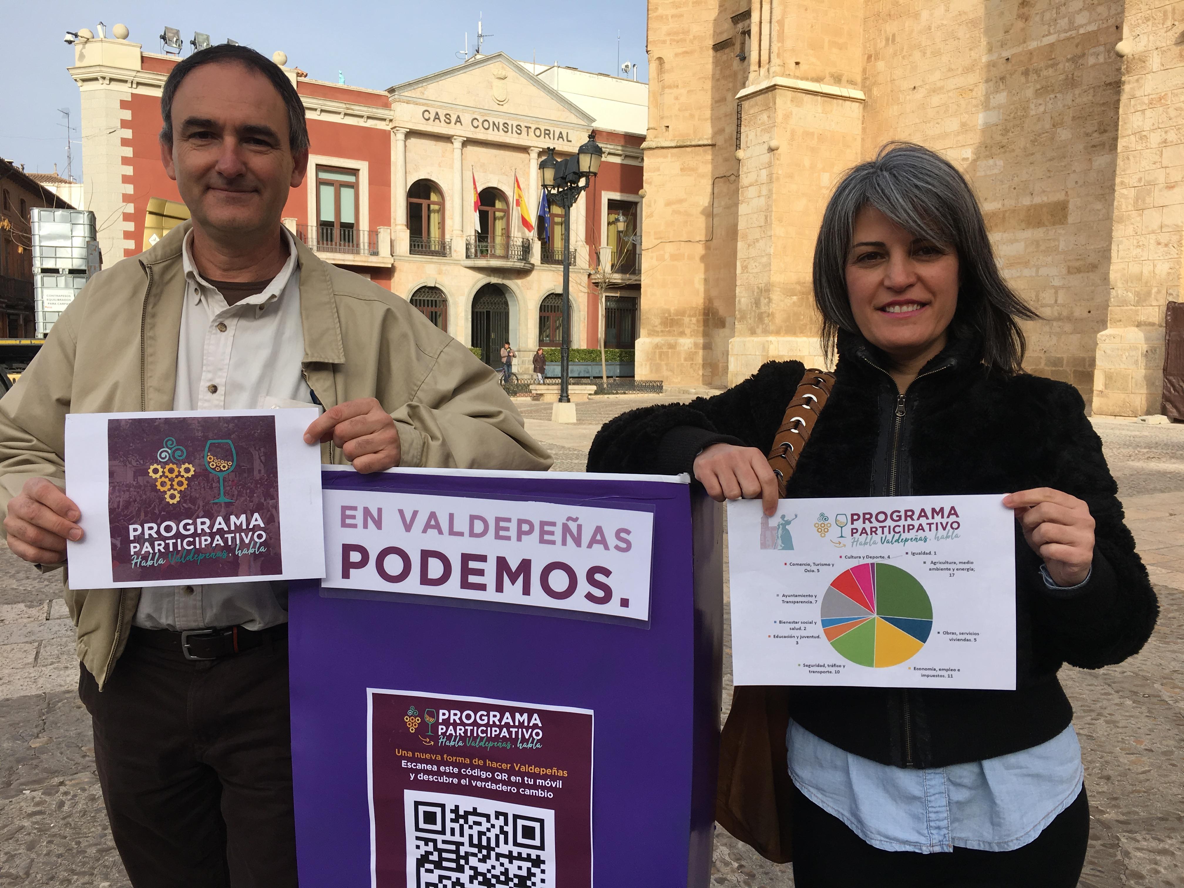 """Benítez de Lugo: """"Con Podemos en el Gobierno municipal, Valdepeñas se convertirá en una ciudad más abierta, participativa y transparente""""."""